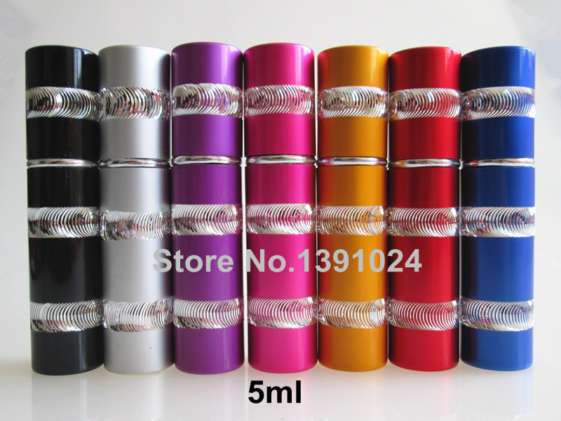 Metal Perfume Bottles 5ml Wholesale Aluminum Spray Atomizer Travel Refillable Bottle(China (Mainland))