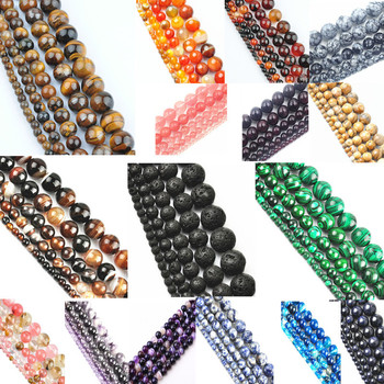 New! 30 piece/lot 8mm Mixed Loose Agate Beads Colorful Charms Spacer Round Natural Stone Beads Wholesale DIY Jewelry