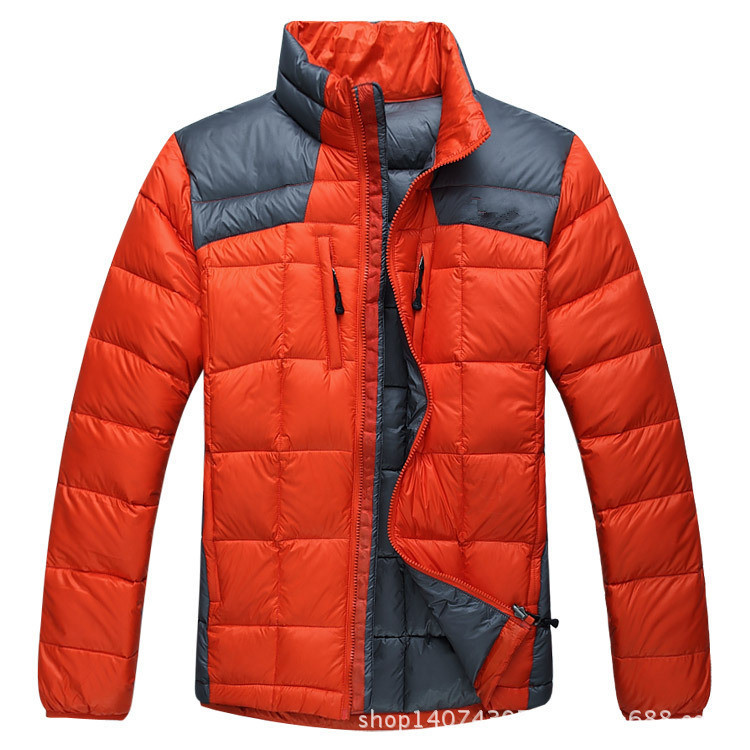 2015 Outdoors Brand Winter Jacket Men Sports Down Jacket White Duck Padded Hooded Waterproof Parkas European Import -30 Degree(China (Mainland))