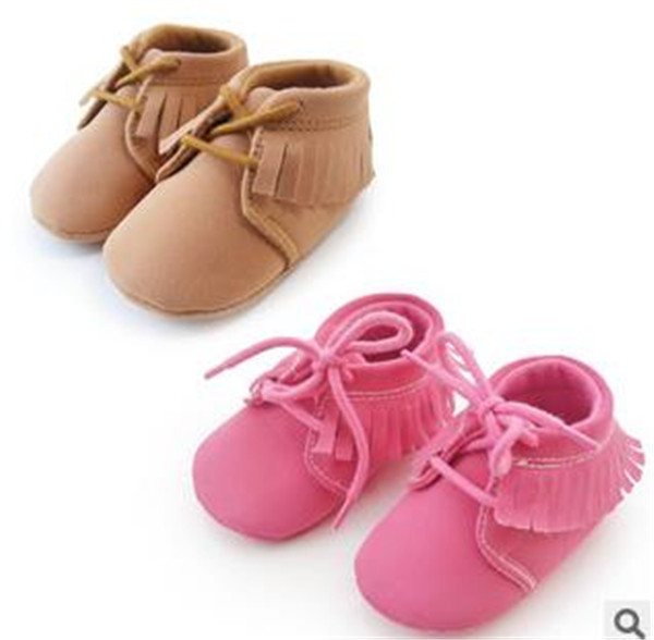 L--6 New fashion arrival 2015 baby shoes Spring/Autumn /Summer lace-up fringe solid cotton boys&girls shoes first walkers(China (Mainland))