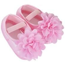 אובדן מכירה 2018 פעוט ילד תינוקת שיפון פרח גומייה יילוד הליכה נעלי תינוק נעלי פעוט נעליים 20(China)