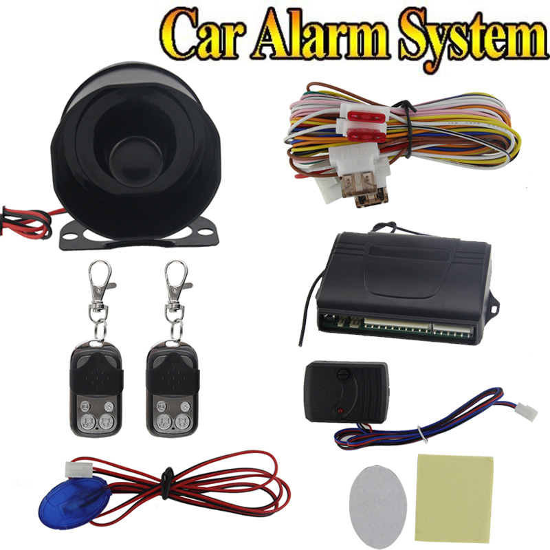 New Car alarm security system 1-Way Car Alarm Protection System with 2 Remote Control auto burglar alarm system Car Accessor(China (Mainland))