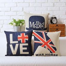 British European American Cartoon Cotton Linen Cushion Pillow