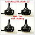 Cobra Motor CM2204 2850 V2 Superlight Brushless Motor for Mini drone Fpv racing Kv 2850 4pcs