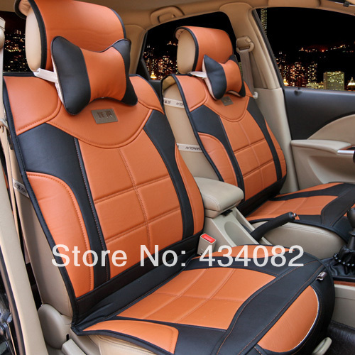 5 seat cover top soft luxury manual leather car seat cover cushion for universal cars benz bmw. Black Bedroom Furniture Sets. Home Design Ideas