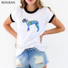 Hipster Cool Dachshund Watercolor T-Shirt femme Summer Fashion Women T Shirt Pretty Girl Casual Top tshirt Cute Dog Art Design(China)