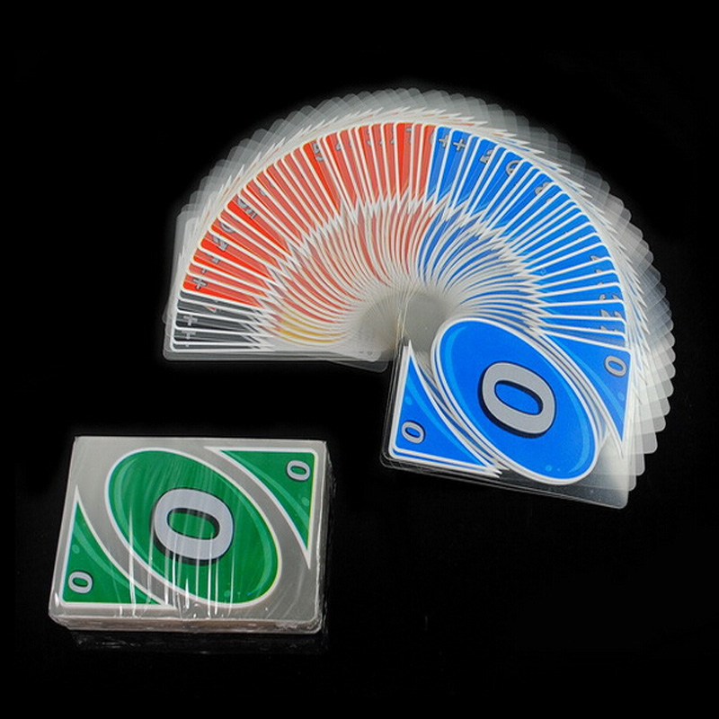 uno plastic transparent waterproof UNO H2Ocards water proof board game playing card family fun poker russian rules