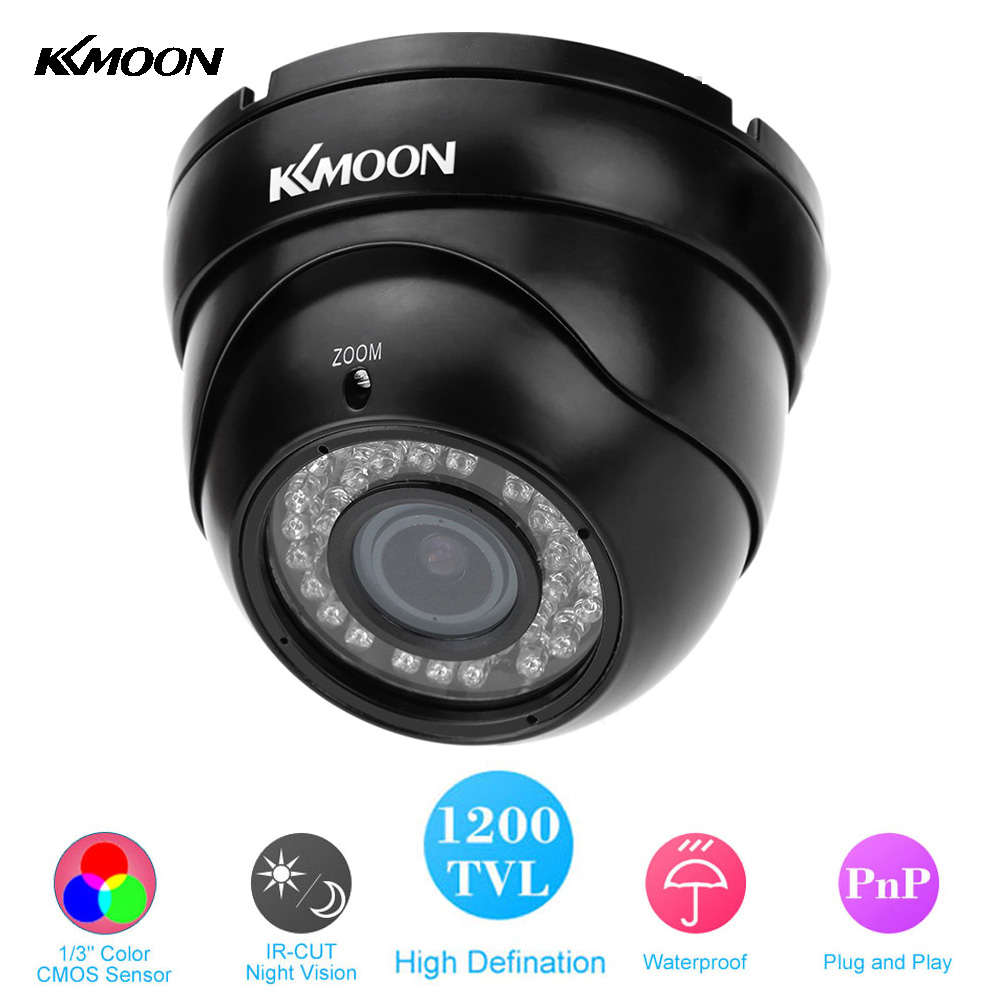 KKMOON HD Waterproof 1200TVL CCTV Camera Outdoor 2.8~12mm Zoom CMOS Home Security Camera IR-Cut Night Vision Dome Camera(China (Mainland))
