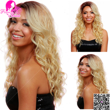 2016 #4T#613 Full Lace Blonde Human Hair Wigs Ombre Lace Wig With Natural Hairline And Baby Hair For Fashion Women(China (Mainland))