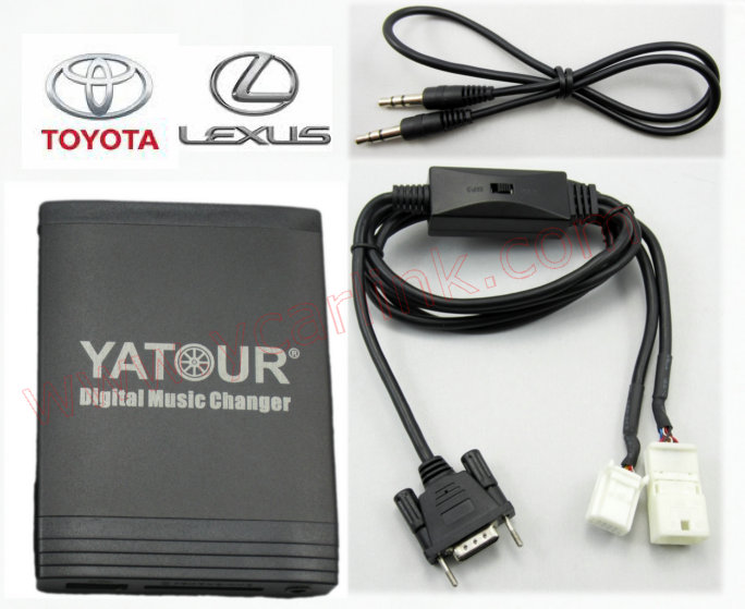 Yatour Car Digital Music Changer USB MP3 AUX Adapter Interface for 2003-2011 Toyota Small 6+6 with CD Changer Switch YTM06-TOY2Y(China (Mainland))