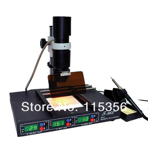 Free Shipping 800W Infrared Heating Rework Station SMT SMD IRDA BGA Welder 120 X120mm T-862++(China (Mainland))