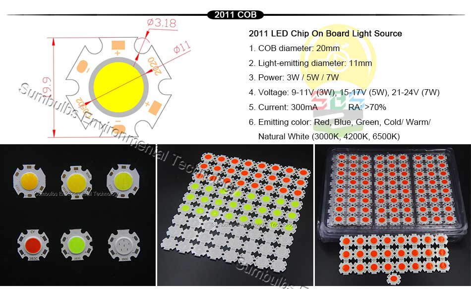 5W 10W 20W 30W 50W 200W Rounded COB LED Light Source Warm Natural Cold White Integrated Circular LED Chip On Board (1)