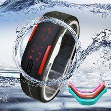 2015 New Arrival Men/Womens Sports Relojes Rubber Red LED Waterproof  Relogio Sport Bracelet Digital Wristwatch