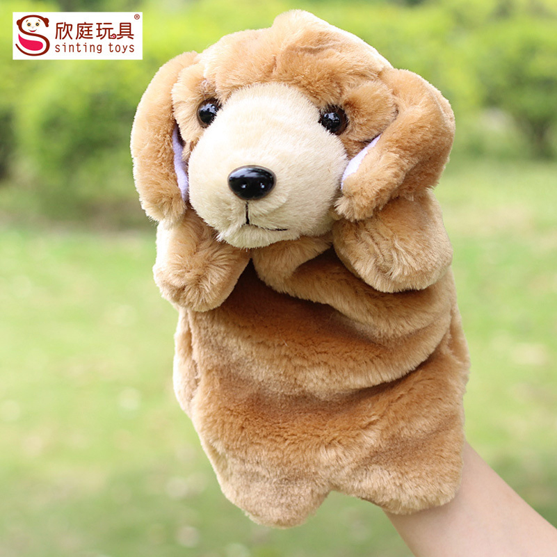 Hand Puppet Finger Puppets Plush Stuffed Toys Animals Parrot Dog Hand Doll Kawai Plush Toys For Children Baby Birthday Gifts(China (Mainland))
