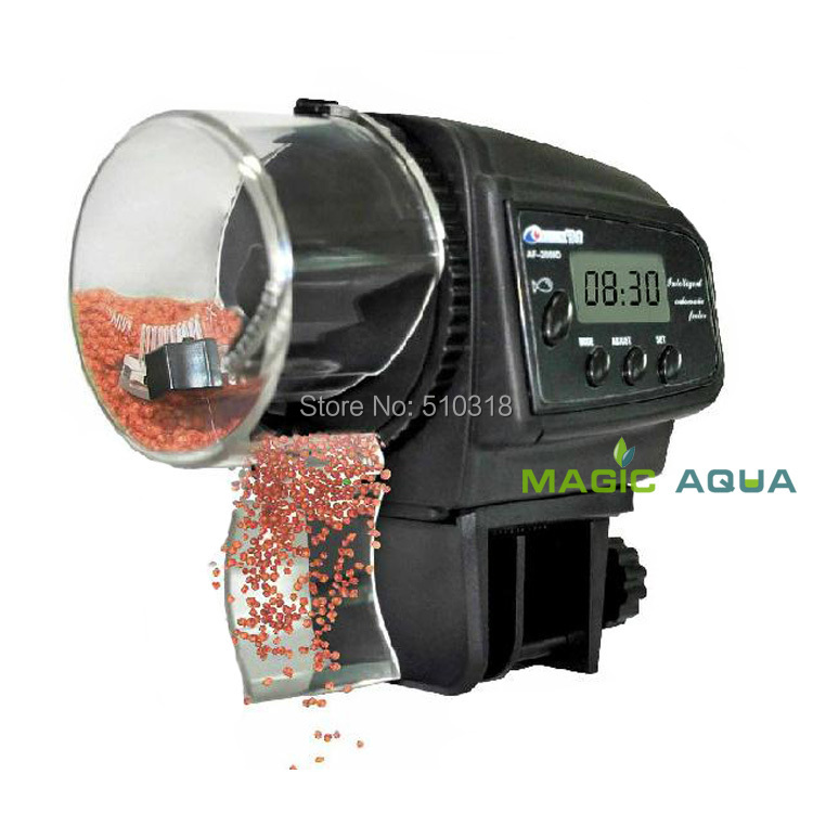 Free Shipping Digital LCD Automatic Aquarium Tank Fish Feeder Timer with Retail Package(China (Mainland))