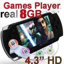 """Livraison gratuite 4.3 """" 8 GB jeu portable lecteur, Portabe jeu Console Player avec caméra + 5000 jeux(China (Mainland))"""