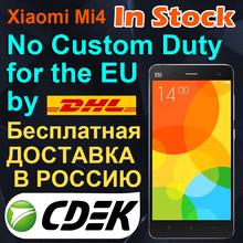 Original Xiaomi Mi4 M4 16GB WCDMA FDD LTE Mobile Phone OS  Snapdragon 801 quad core 2.5GHz Screen1920*1080P Camera 13MP(China (Mainland))