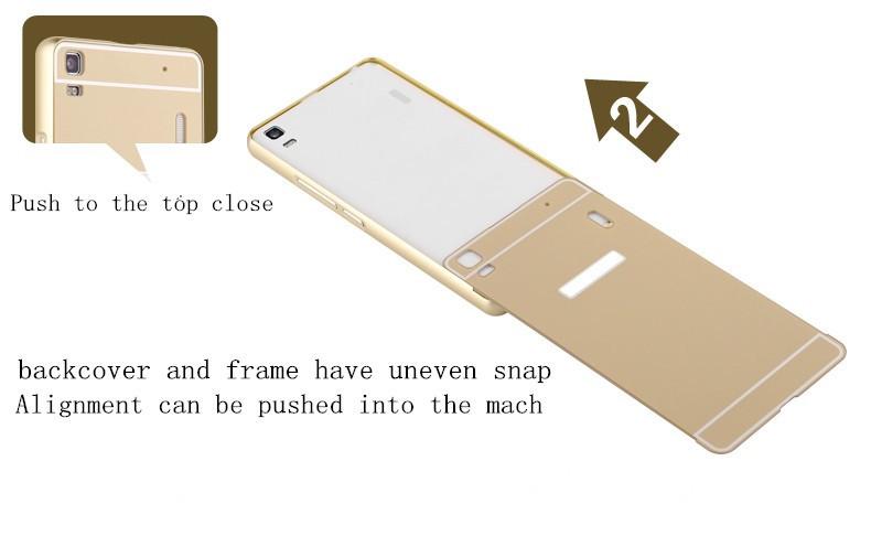 2016 New Arrival For Samsung Galaxy j7 Case Luxury Mirror Metal Aluminum+Acrylic Hard Back Cover Phone Fundas Bag Accessory Capa