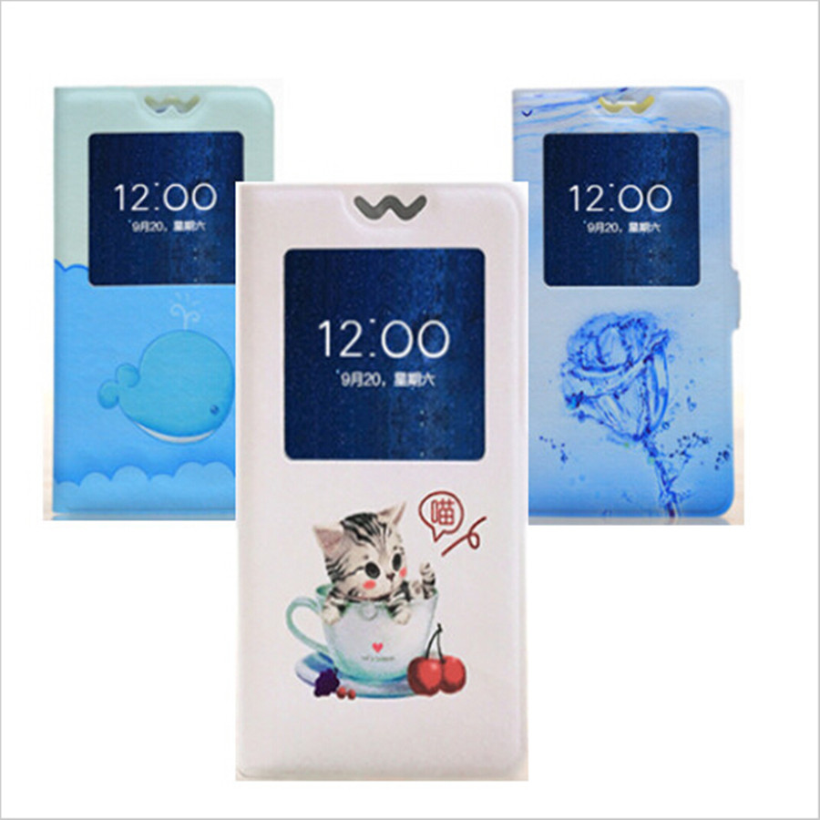 2016 New Arrival Fashion Painted Leather Flip Cover Stand Case For Nokia X Dual SIM RM980 A110 Phone Bag Window View Cases(China (Mainland))