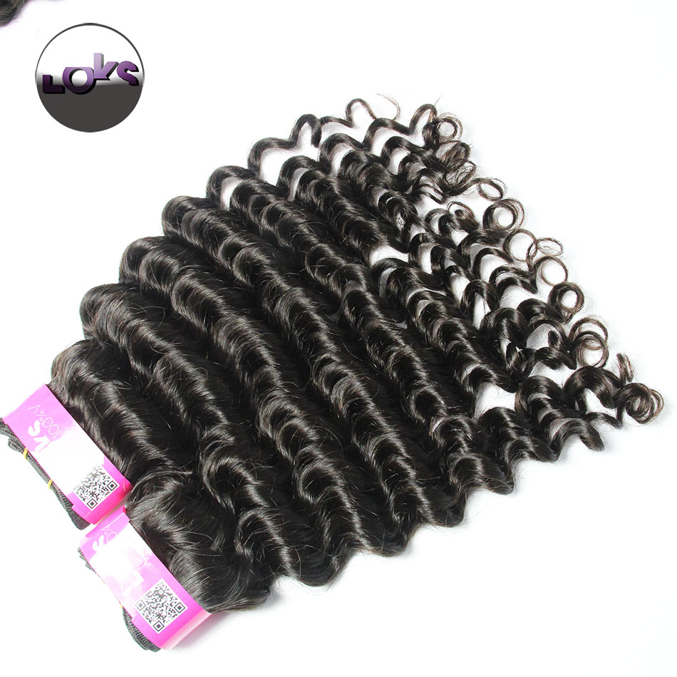 8-30 Brazilian Virgin Hair Extension Deep Wave/ Curly Single Drawn Machine Weft Fast Shipping<br><br>Aliexpress