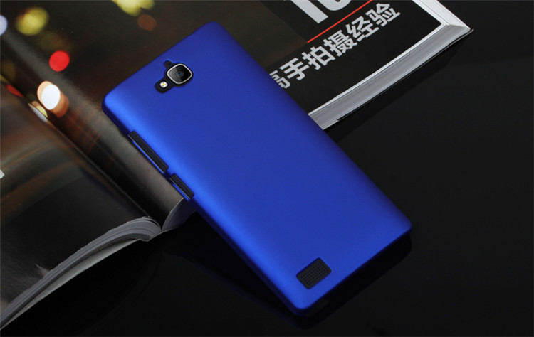 KYM Colors Soft Hand Feel For Huawei Honor 3C Hard Case Solid Matte Back Cover + Screen Protector Film(China (Mainland))