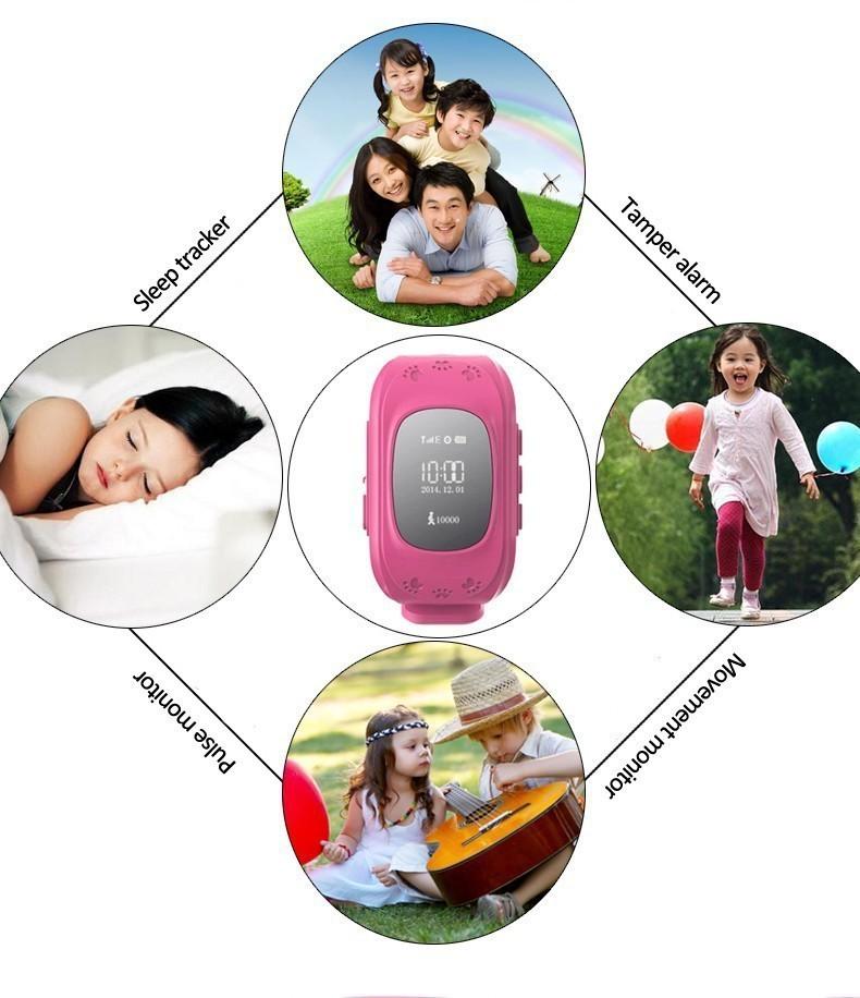 ถูก มินิเด็กGPS watchสมาร์ทปลอดภัยนาฬิกานาฬิกาข้อมือSOSโทรค้นหาสถานที่L Ocatorติดตามสำหรับเด็กต่อต้านหายไปตรวจสอบเด็กลูกชาย