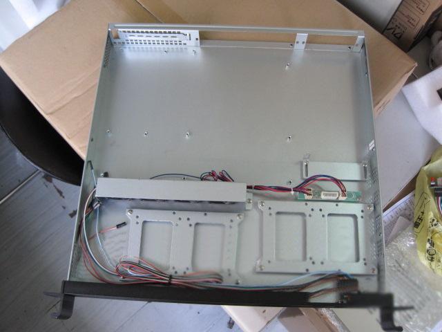 Red 1u420l server computer case industrial computer case aluminum alloy panel 2 standard hard drive(China (Mainland))