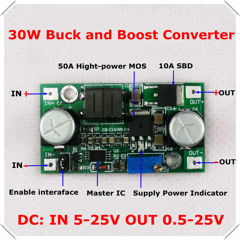 DC-DC Adjustable Step-Up and step-down Power Supply Module boost and buck voltage converter LM2596&LM2577 5-25V [ 5pcs/lot](China (Mainland))