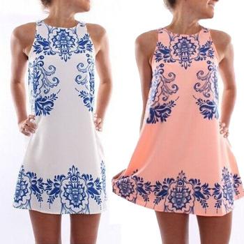 Ретро печать роковой vestido шею платье Feitong горячая распродажа новый fashionwomen лето элегантный рукавов бесплатная доставка