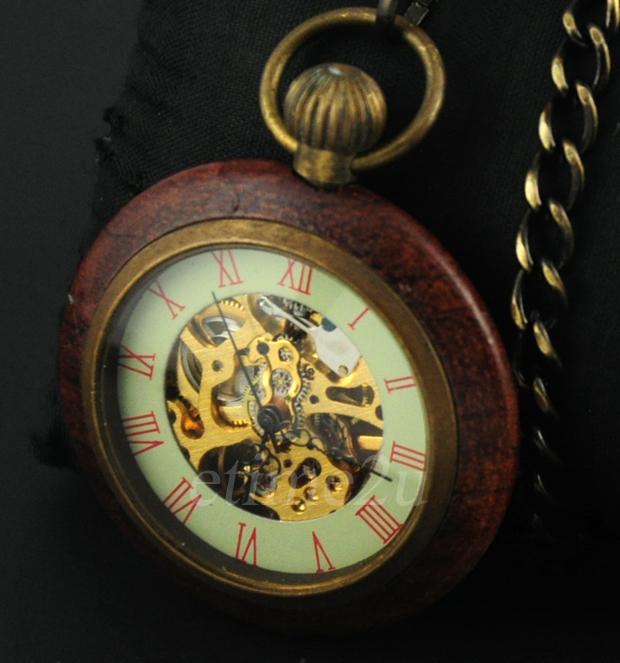 new wood bronze antique retro num steunk pendant