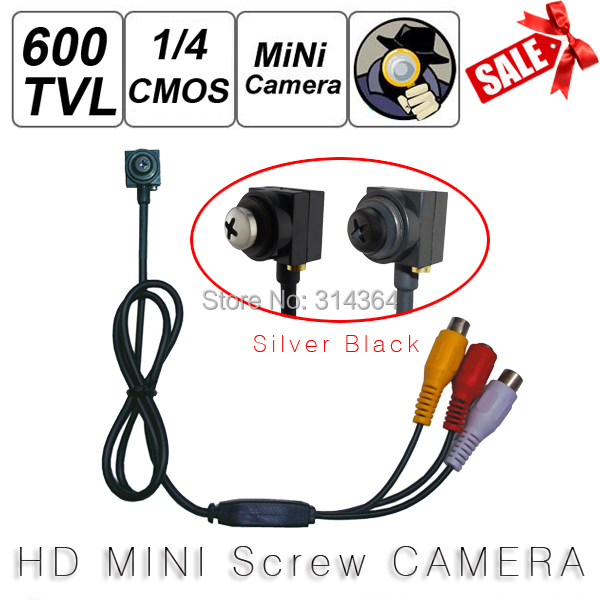 5MP 600TVL 700TVL Mini Wired Screw Pinhole Camera Color Video AV Security Cam Home Car Surveillance 1280 x 960 NTSC / PAL(China (Mainland))