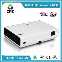 Perfect Color 300inch 3000ANSI 100,000:1 dlp Hid Rear Digital Video Lamp 1080p HD Laser Projector For Home&Classroom Projectors(China (Mainland))