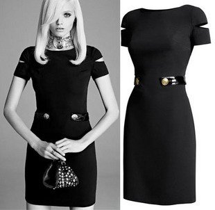 Spring 2014 New Brand Dress Little Black Dress Fashion Chiffon Mini Women's Ladies' Party Sexy Casual Cocktail Sheath Dresses