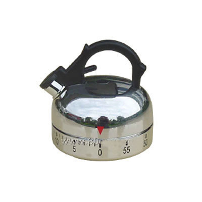 Good Retail Packing Free Shipping Kettle Shape High Quality 60 minutes Twist  Kitchen Timer,Kitchen&Cooking Mechanical Timer