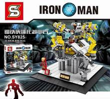 Buy Marvel avengers super heroes s iron Man Building Blocks Sets Models toys children SY825 toys children gift for $18.97 in AliExpress store