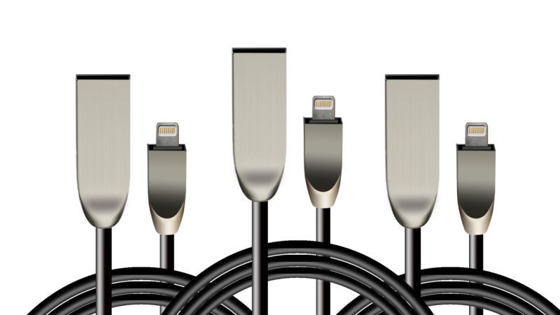 High Quality Zinc Alloy 8pin i6 for iPhone 6 6S Plus 2A Fast Charging Data line USB Cable 3M 2M for iPhone 5 5s 7 iPad mini(China (Mainland))