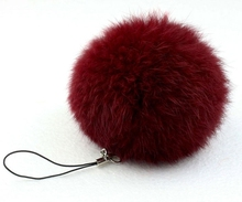 fur pom keychain Real Rabbit Fur Ball Key chains fur keyring porte clef llaveros Key Chain For Bag Charm navidad regalos