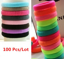 Buy 96 Pcs/ Lot Candy color Hair Elastic band Cotton Seamless headband hair ties rope Ponytail Holer hair accessories for $7.73 in AliExpress store