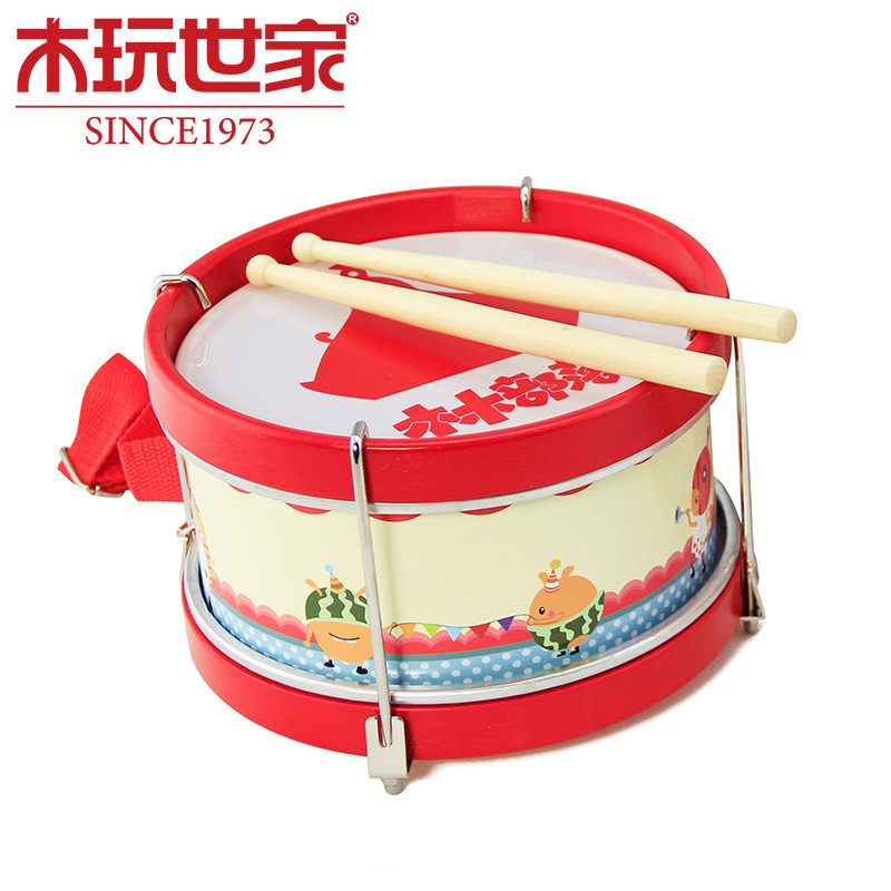 Joy drum toys cartoon wooden children's music enlightenment a birthday present