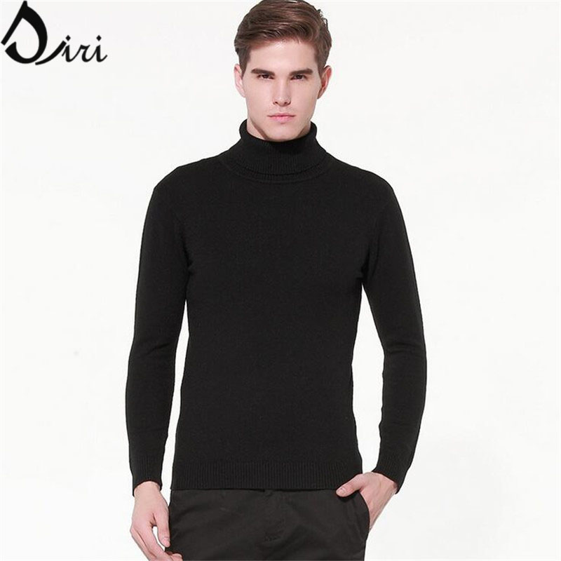 Mens Black Turtleneck Sweater Winter Pullover Homme 2015 Slim Fit Masculine Knitted Men Sweaters Red Turtleneck Men Size M-2XL(China (Mainland))