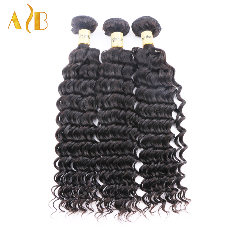 Malaysian Virgin Hair Deep Wave 3pcs Malaysian Human Hair Weave Malaysian Curly Virgin Hair, 7A Unprocessed Malaysian Deep Wave
