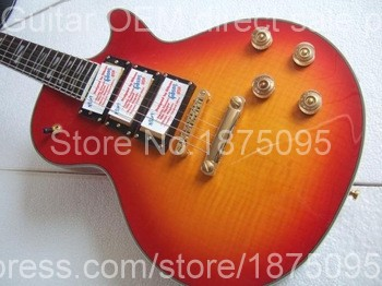 factory sellers HOT SALE electric guitar 3 pickups Earth marked Memorial section flame fingerboard free shipping Cheap price(China (Mainland))