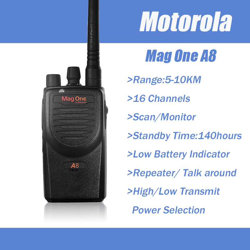 Original Portable UHF 16Channels Two Way Radio Set Mag One A8 Free Headset for Motorola Walkie Talkie Connector(China (Mainland))