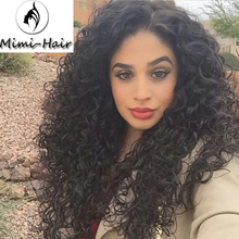 Mimihair Loose Curl Deep Wave Synthetic Lace Front Wig Glueless Lace Wig For Black Women
