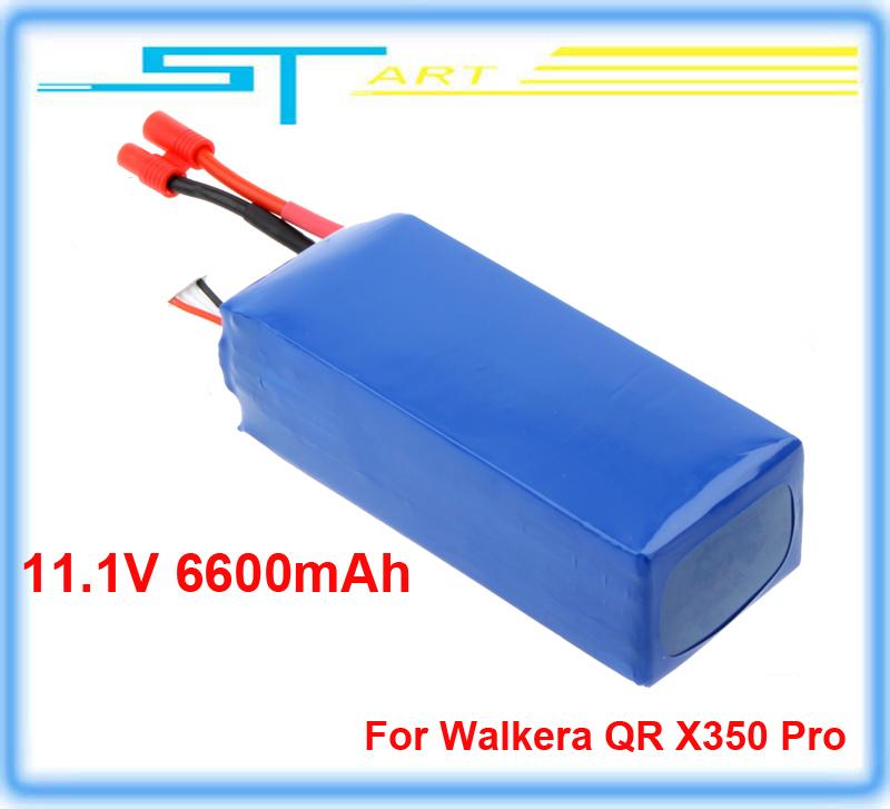LiPo Battery 11.1V 6600mAh for Walkera QR X350 Pro Spare Flight Time 20-25min FPV RC Quadcopter(China (Mainland))