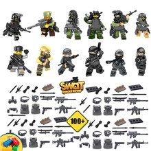 12pcs Swat Special Forces Police the Wraith Assault CS Minifigures with Weapon Action Figure Building Toys Compatible with Lego(China (Mainland))