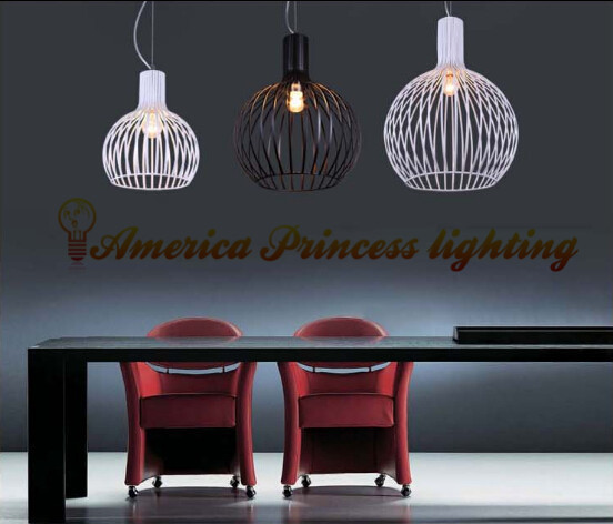 Modern wrought iron birdcage chandeliers bedroom entrance chandelier lamp gourd, diameter 38CM, E27, AC110-240V<br><br>Aliexpress