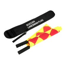 New Soccer Referee Flag The World Cup Fair Play Sports Match Football Linesman Flags Referee Equipment + Carry Bag(China (Mainland))