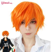 3 Style 25cm Men Short Synthetic Hair Orange Wig Koushi Sugawara Nishinoya Yuu hinata haikyuu Anime Cosplay Wig(China (Mainland))