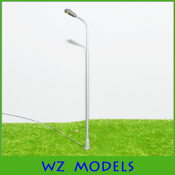 1:100 scale Sand table model luminous single-head street lamp material led street light height<br><br>Aliexpress